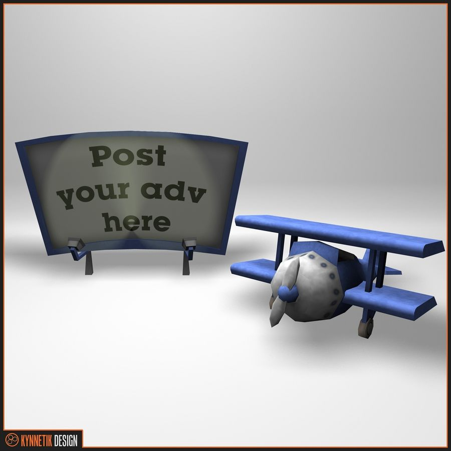 Advertising billboard! royalty-free 3d model - Preview no. 1