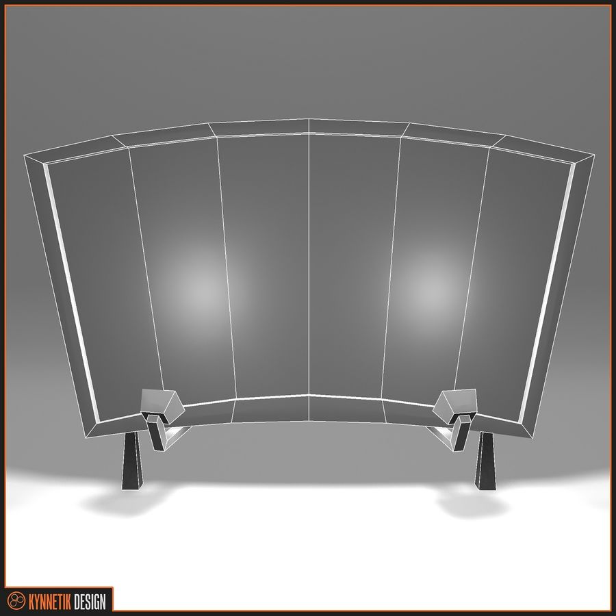 Advertising billboard! royalty-free 3d model - Preview no. 8