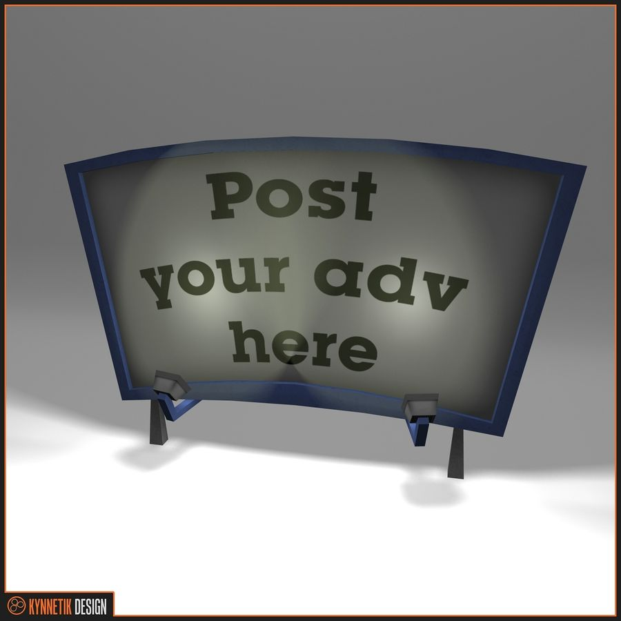 Advertising billboard! royalty-free 3d model - Preview no. 5