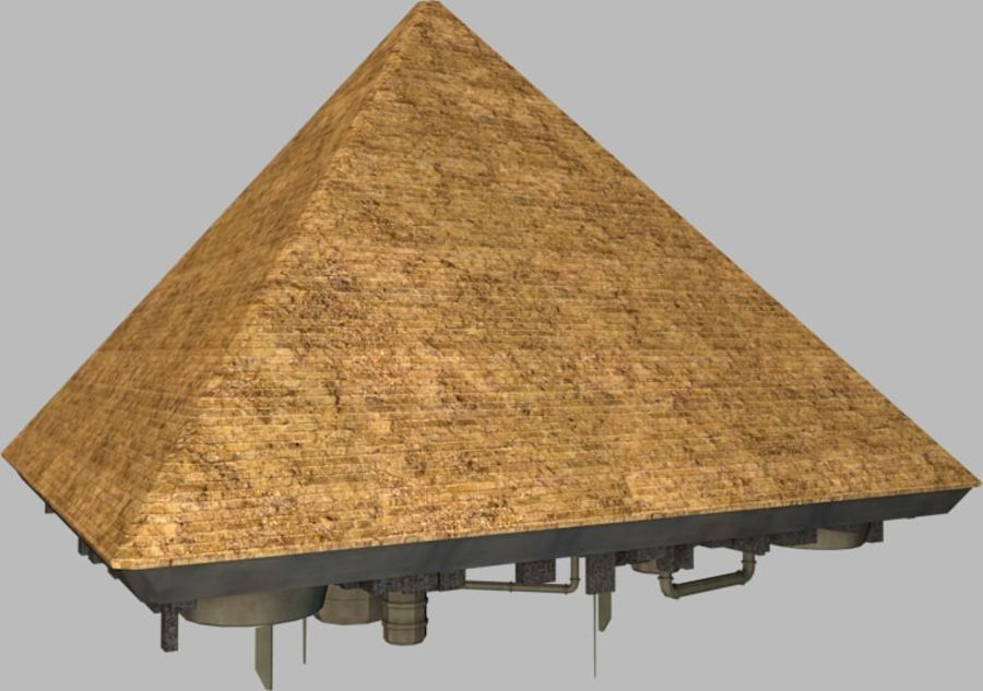 Giza Pyramid Rymdskepp royalty-free 3d model - Preview no. 1