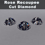 Diamante de talla Rose Rose modelo 3d