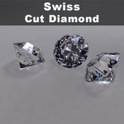 瑞士切割钻石 3d model