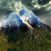 MOUNTAIN A SNOWY PEAKS 3d model