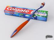 Diş fırçası ve diş macunu 3d model