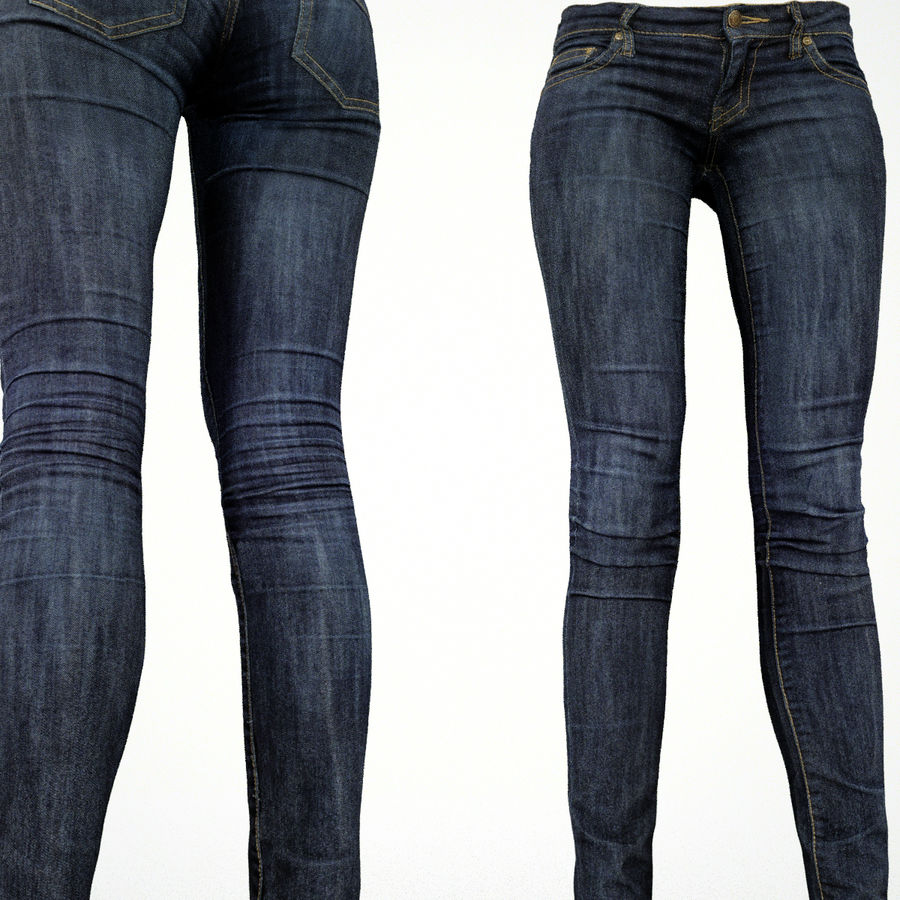 Jeans royalty-free 3d model - Preview no. 5