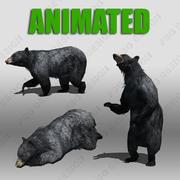 애니메이션 흑곰 3d model