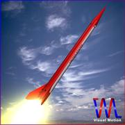 Black Brant III Sounding Rocket 3d model