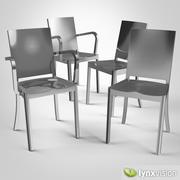 Hudson Chair & Armchair 3d model