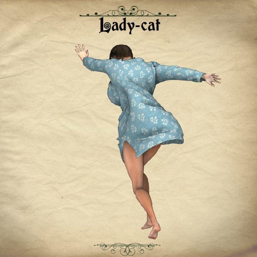 猫猫 royalty-free 3d model - Preview no. 8