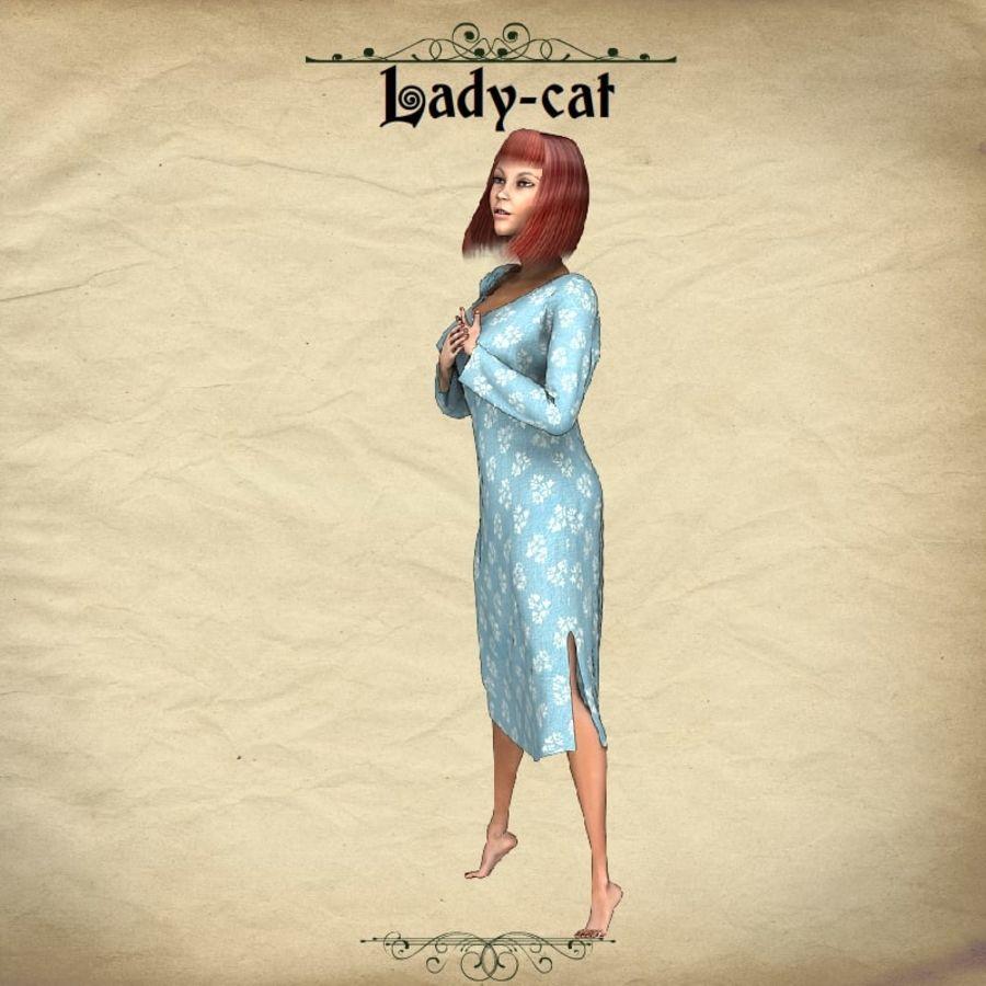猫猫 royalty-free 3d model - Preview no. 3