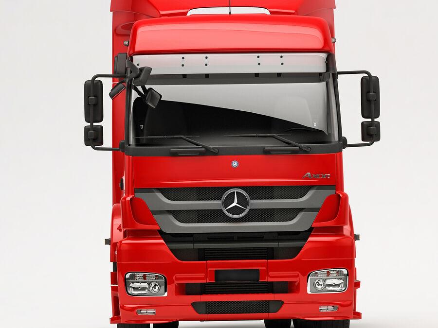 Mercedes Axor (przyczepa cementowa) royalty-free 3d model - Preview no. 16
