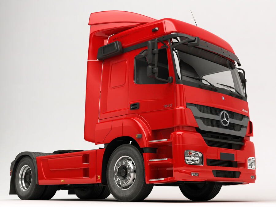 Mercedes Axor (Cement Trailer) royalty-free 3d model - Preview no. 14