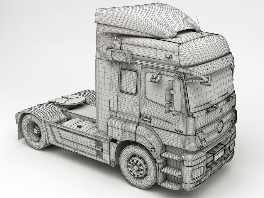 Mercedes Axor (Cement Trailer) royalty-free 3d model - Preview no. 17