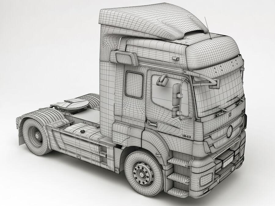 Mercedes Axor (przyczepa cementowa) royalty-free 3d model - Preview no. 17