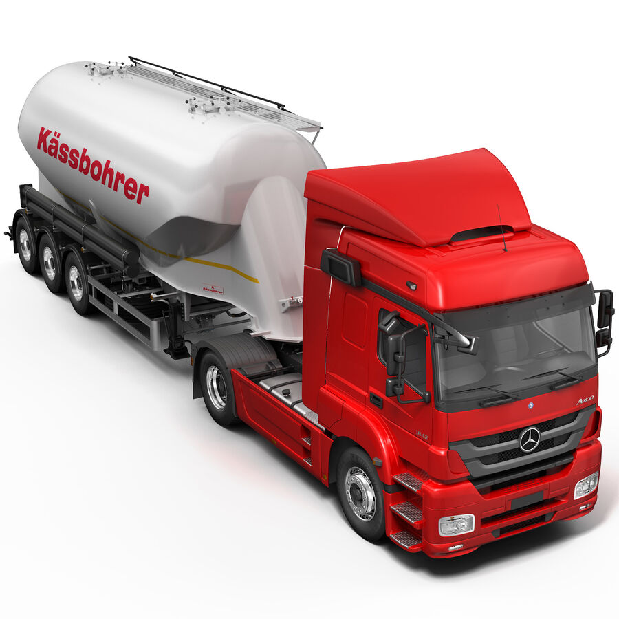 Mercedes Axor (Cement Trailer) royalty-free 3d model - Preview no. 6