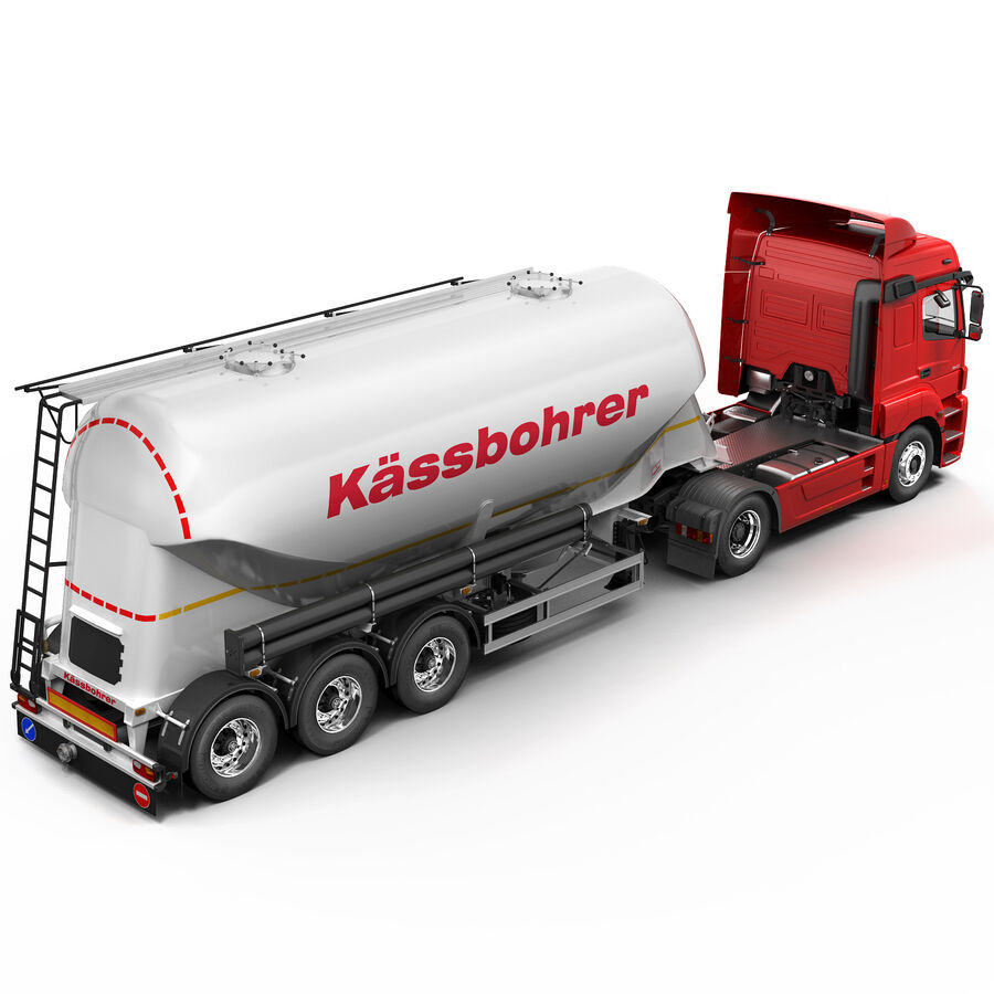 Mercedes Axor (Cement Trailer) royalty-free 3d model - Preview no. 7