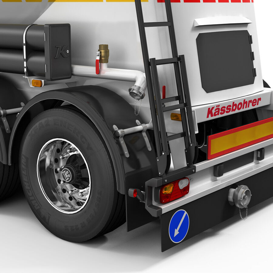 Mercedes Axor (Cement Trailer) royalty-free 3d model - Preview no. 9