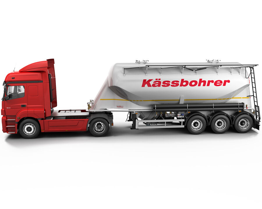 Mercedes Axor (Cement Trailer) royalty-free 3d model - Preview no. 4