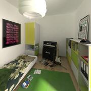 Ruimte voor jongen 3d model