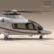 AW109 helikopter 3d model