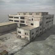 废墟建筑工厂机库仓库 3d model