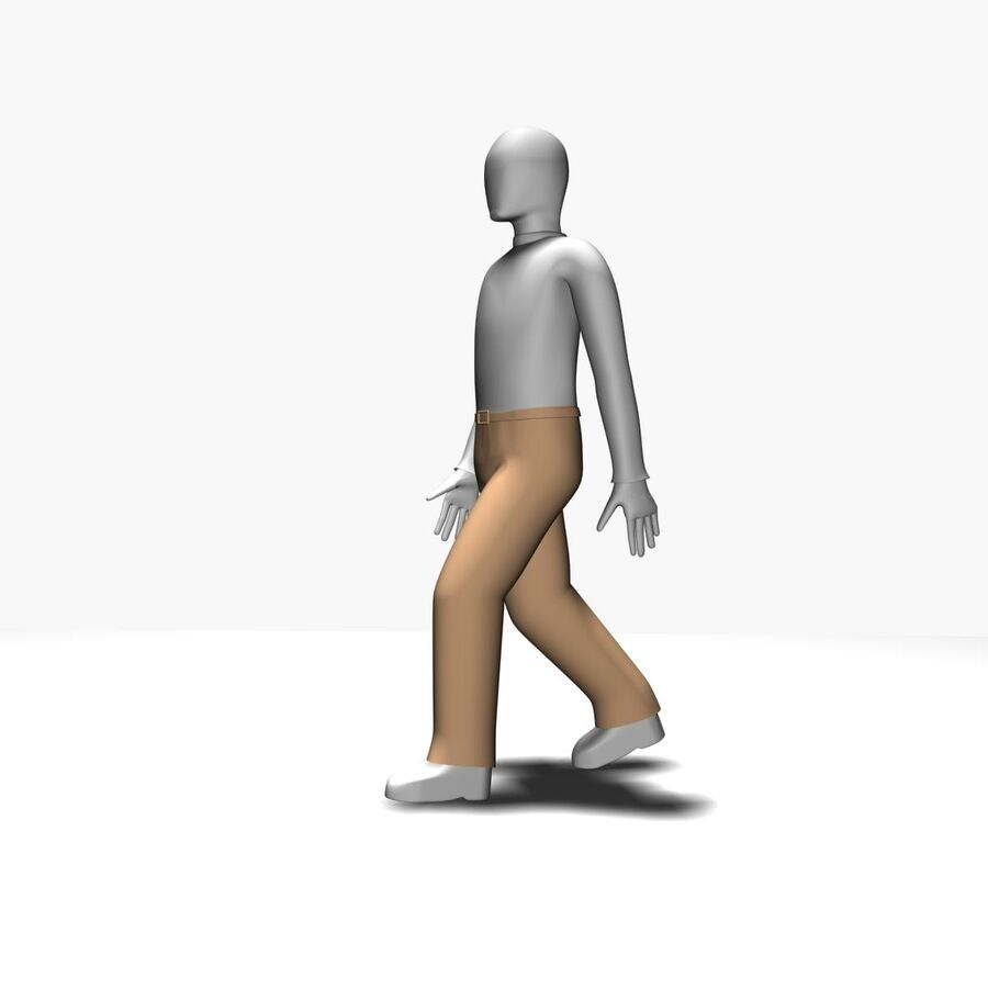 Обычный человек royalty-free 3d model - Preview no. 4