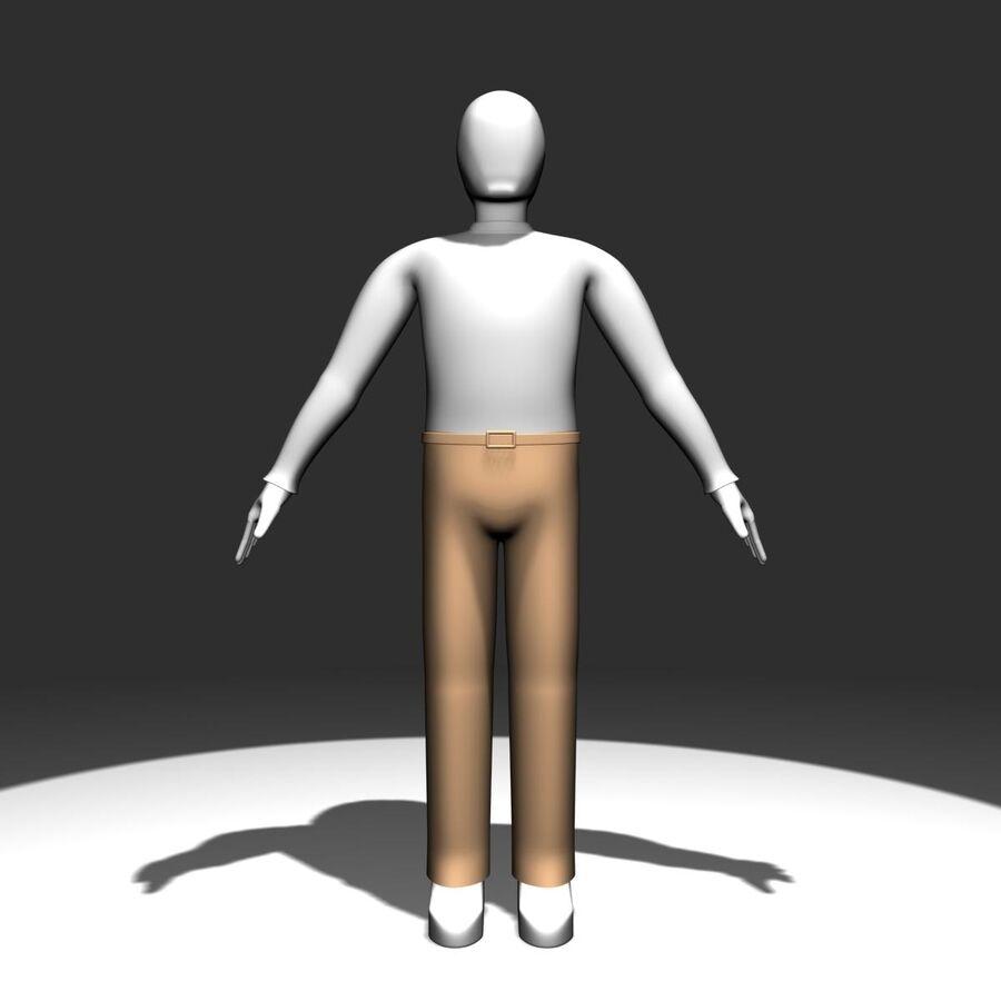 Обычный человек royalty-free 3d model - Preview no. 2