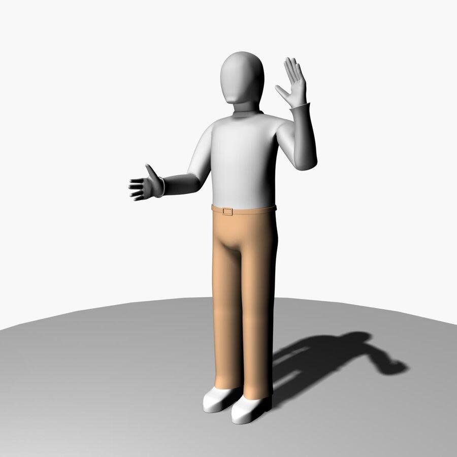 Обычный человек royalty-free 3d model - Preview no. 5