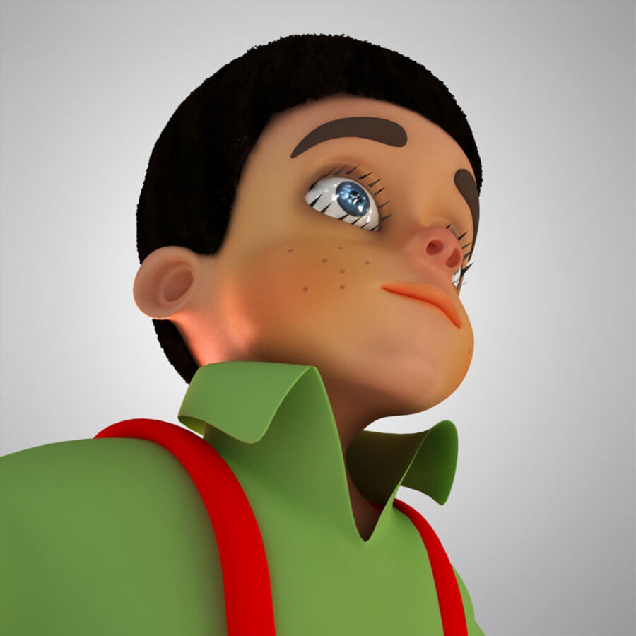 Kid Boy Cartoon royalty-free 3d model - Preview no. 6