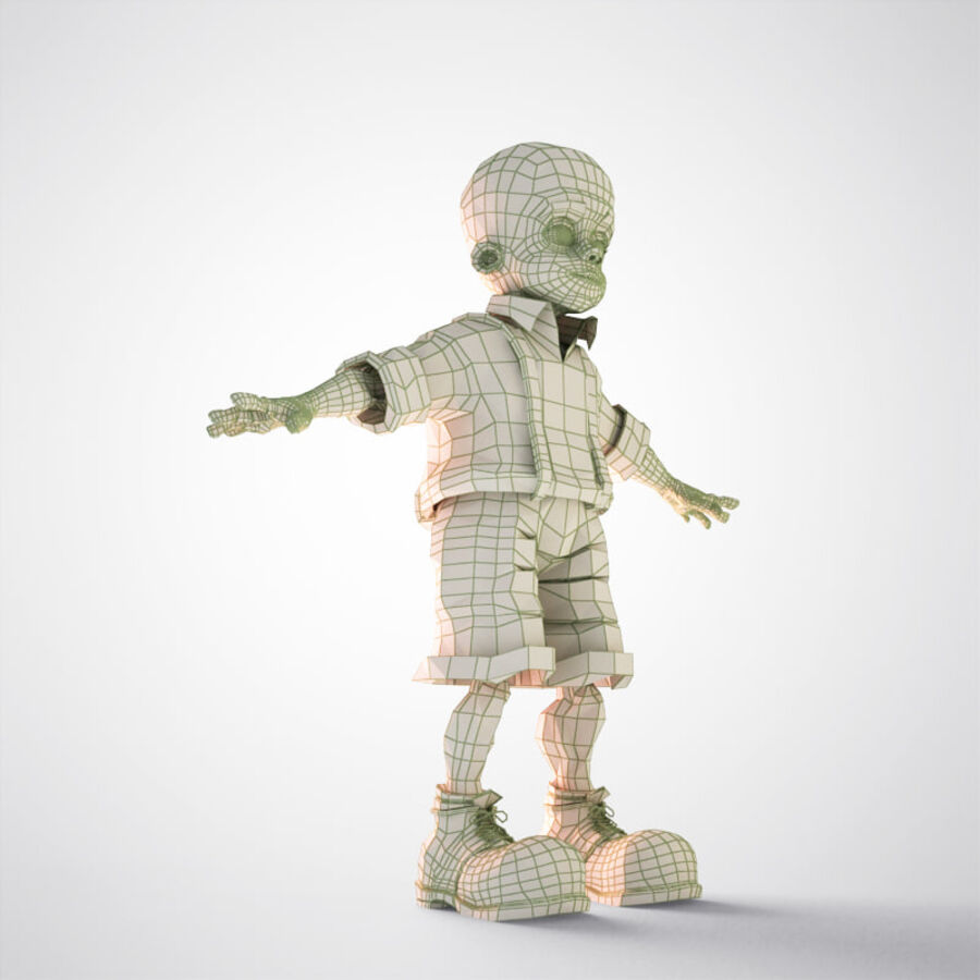 Kid Boy Cartoon royalty-free 3d model - Preview no. 14