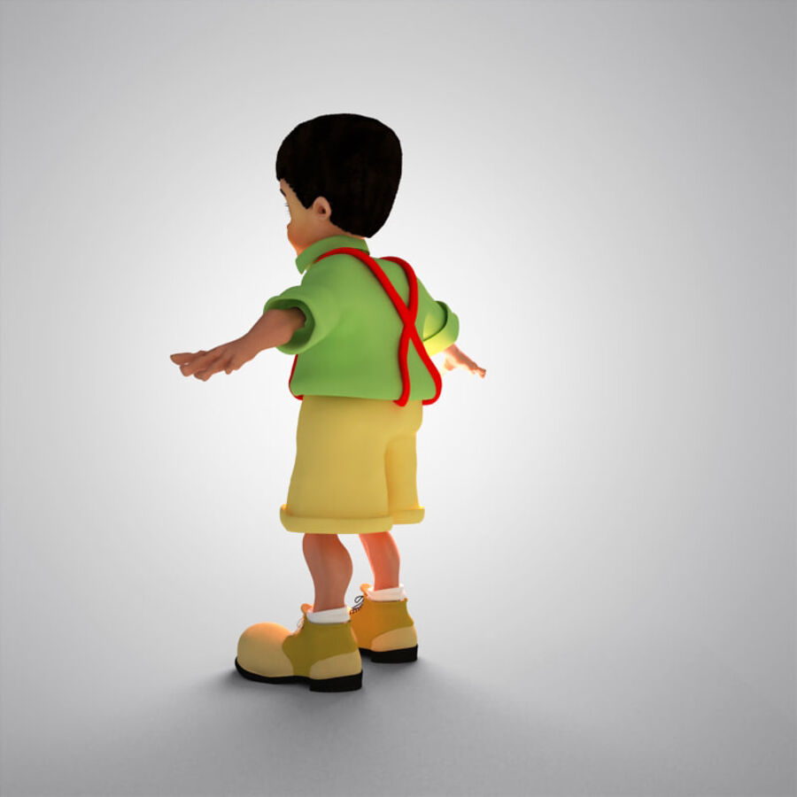 Kid Boy Cartoon royalty-free 3d model - Preview no. 10