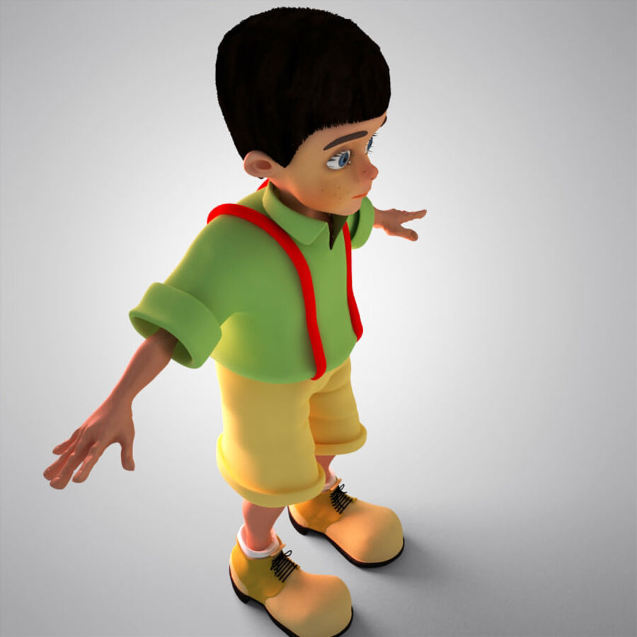 Kid Boy Cartoon royalty-free 3d model - Preview no. 5