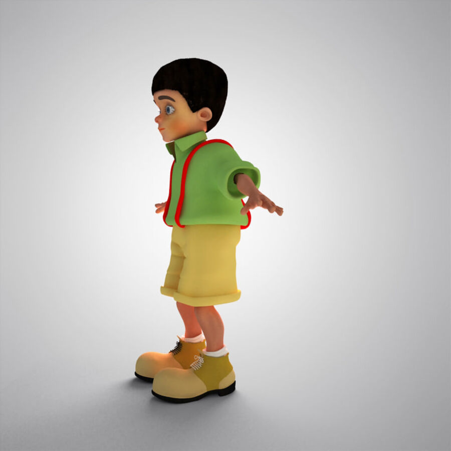 Kid Boy Cartoon royalty-free 3d model - Preview no. 11
