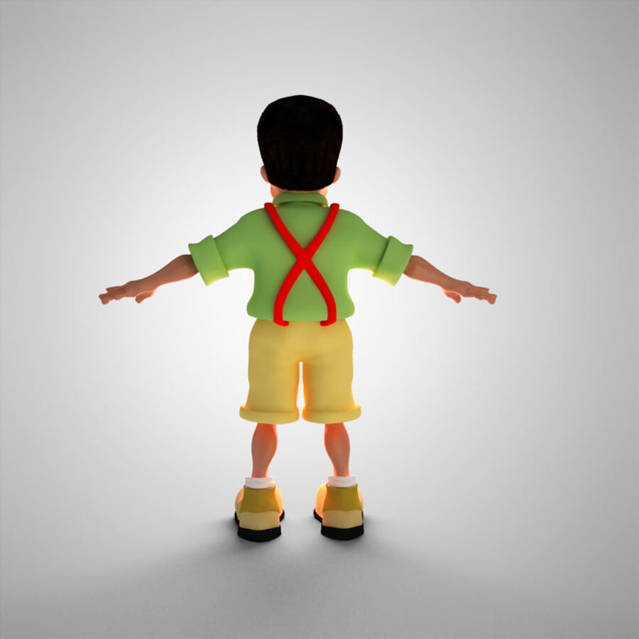 Kid Boy Cartoon royalty-free 3d model - Preview no. 9