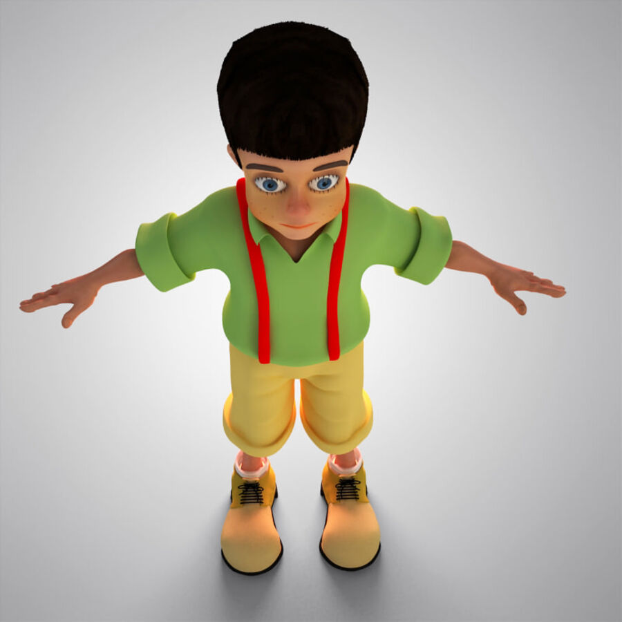 Kid Boy Cartoon royalty-free 3d model - Preview no. 3