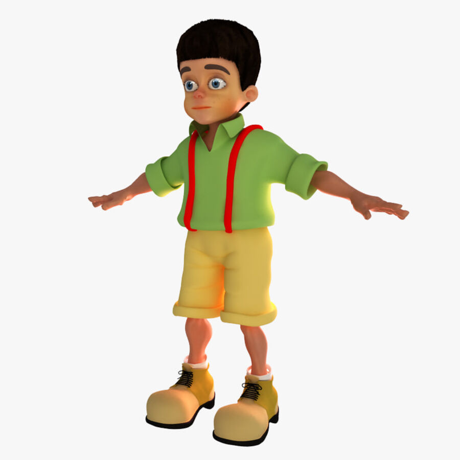 Kid Boy Cartoon royalty-free 3d model - Preview no. 1