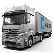 Mercedes Actros 컨테이너 3d model