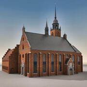 ヨーロッパの建物034大聖堂 3d model