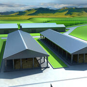 Молочная ферма 3d model