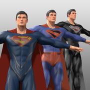 Superman-Kostüm 3d model