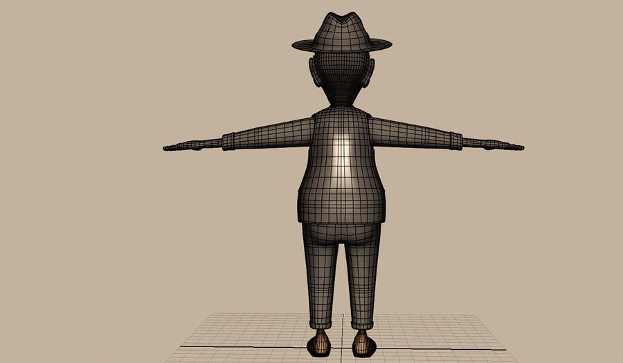 Velhote royalty-free 3d model - Preview no. 13