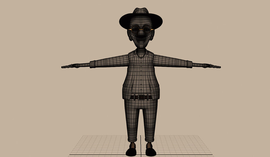 Velhote royalty-free 3d model - Preview no. 14