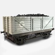 Старый британский угольный перевозчик 3d model