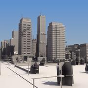 Gedetailleerd City Mass Model LW 3d model