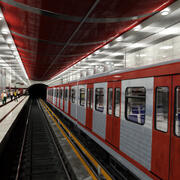 Metrô - Estação de Metrô Com Trem 3d model