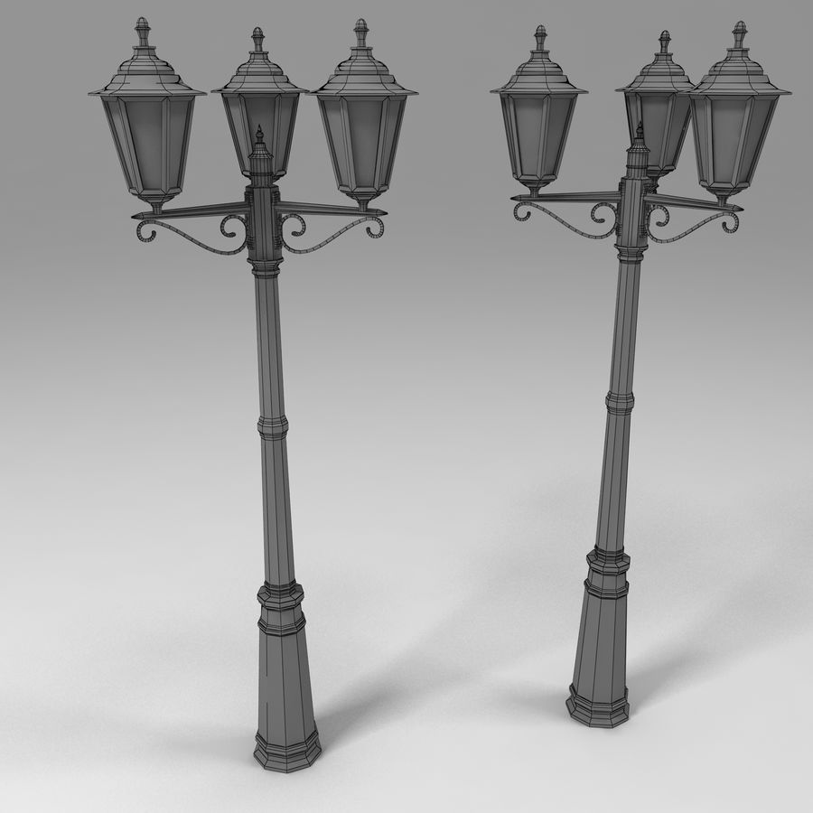 sokak lambası 3 royalty-free 3d model - Preview no. 4