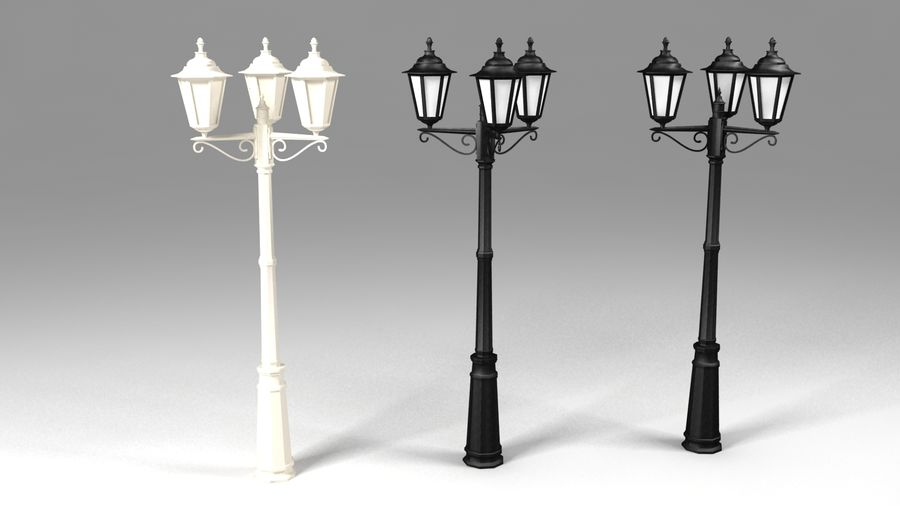 sokak lambası 3 royalty-free 3d model - Preview no. 2