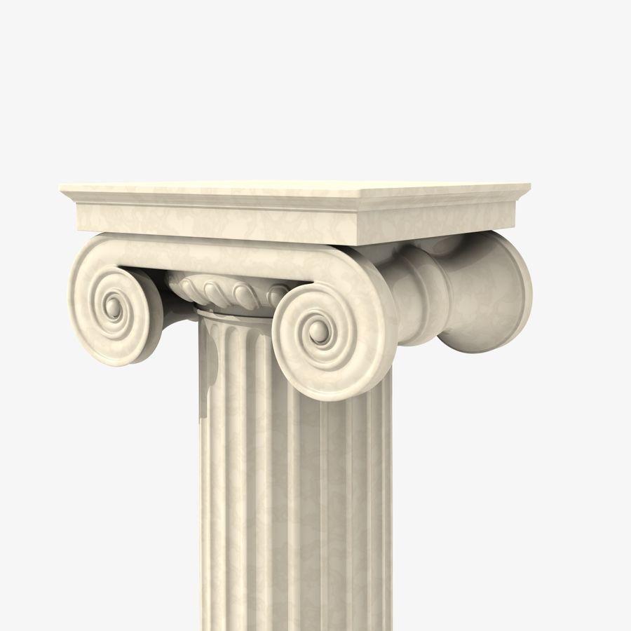 Antique Columns royalty-free 3d model - Preview no. 2
