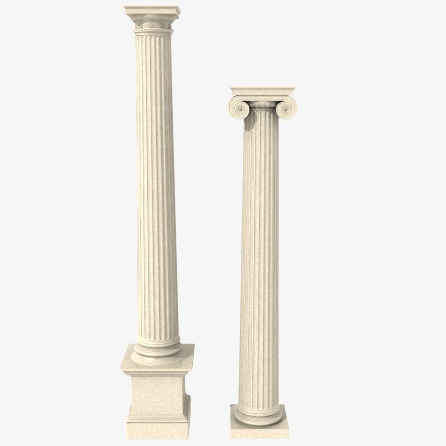Antique Columns royalty-free 3d model - Preview no. 1