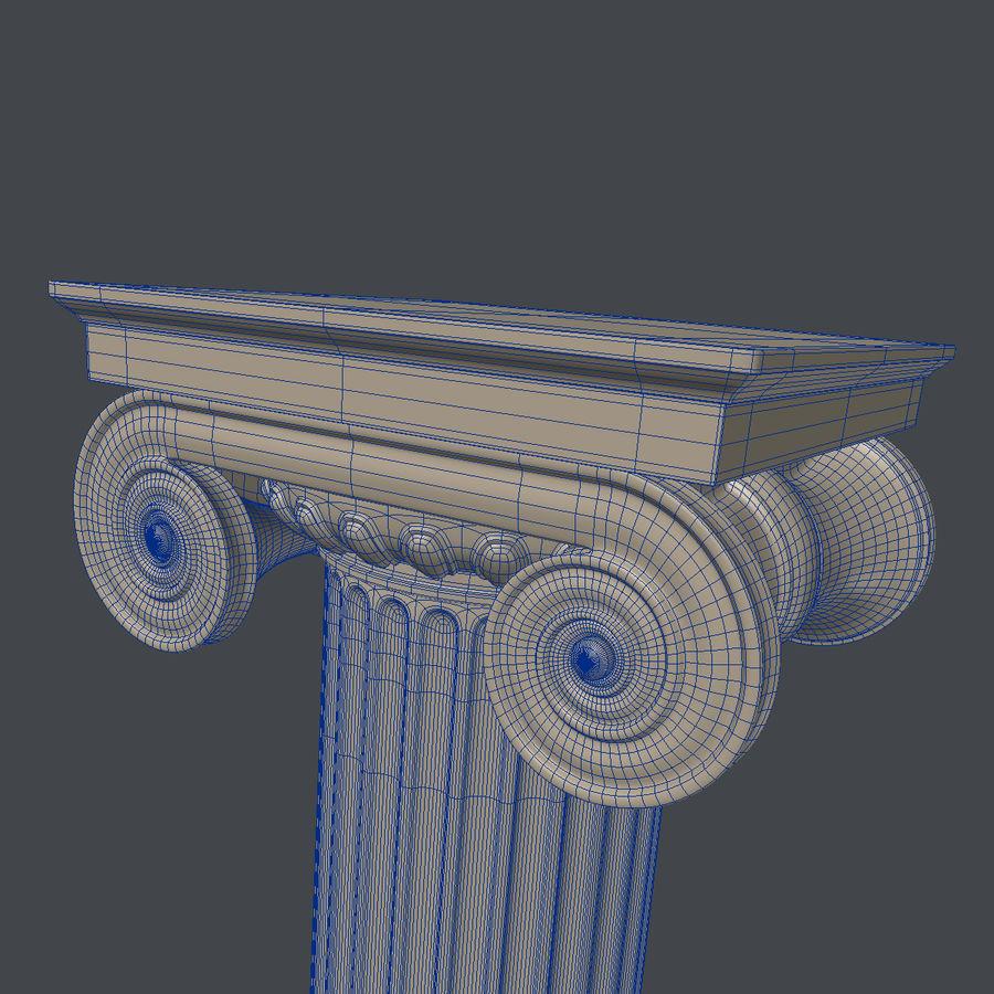 Antique Columns royalty-free 3d model - Preview no. 6